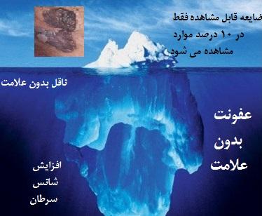 اکثر بیماران آلوده به ویروس زگیل تناسلی بدون علامت هستند و همچون کوه یخ فقط بخش کوچکی از بیماری نمایان می شود